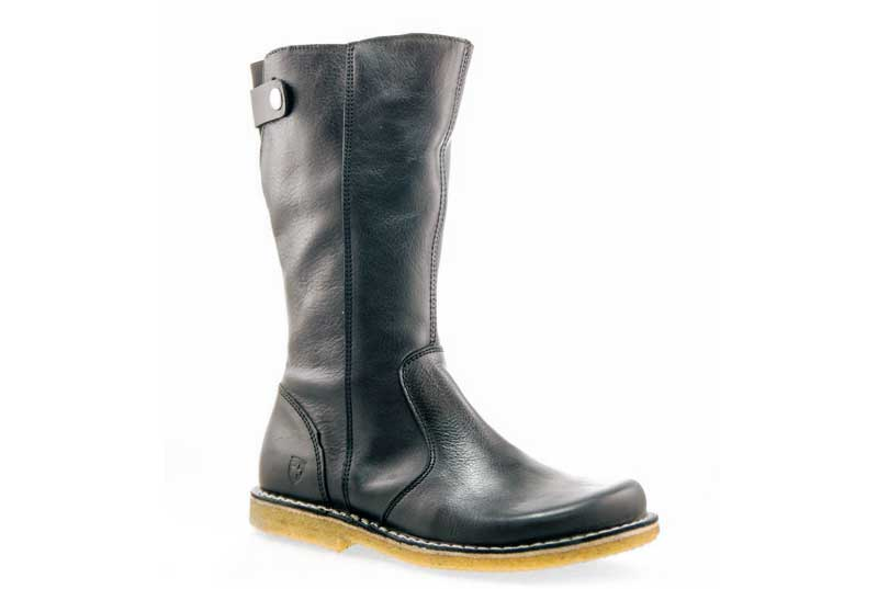 GRÜNBEIN CHARLOTTE  - NATURAL FIT CALF-HIGH LEATHER BOOTS