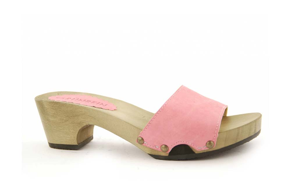 Pflanzlich gegerbtes Leder: Grünbein Erna rosa